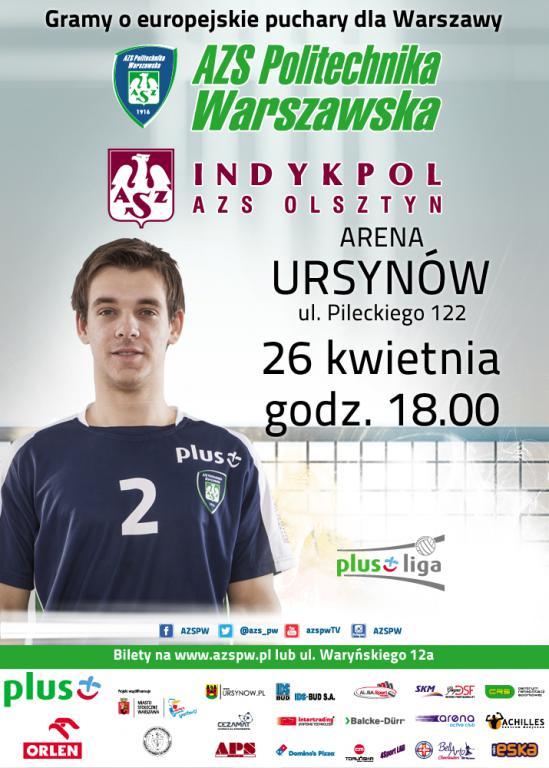 Wygraj bilety na mecz AZS Politechnika Warszawska – Indykpol AZS Olsztyn!