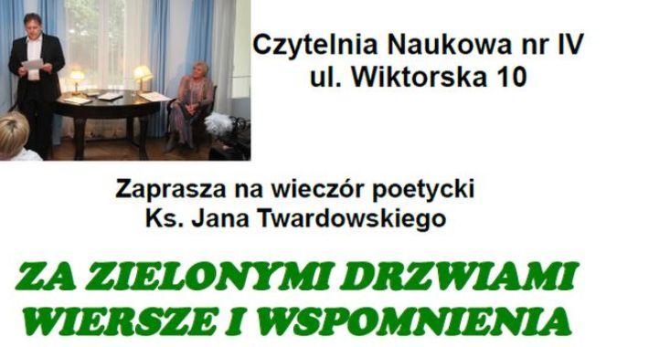 Wieczór Poetycki Ks Jana Twardowskiego Mokotów Warszawa